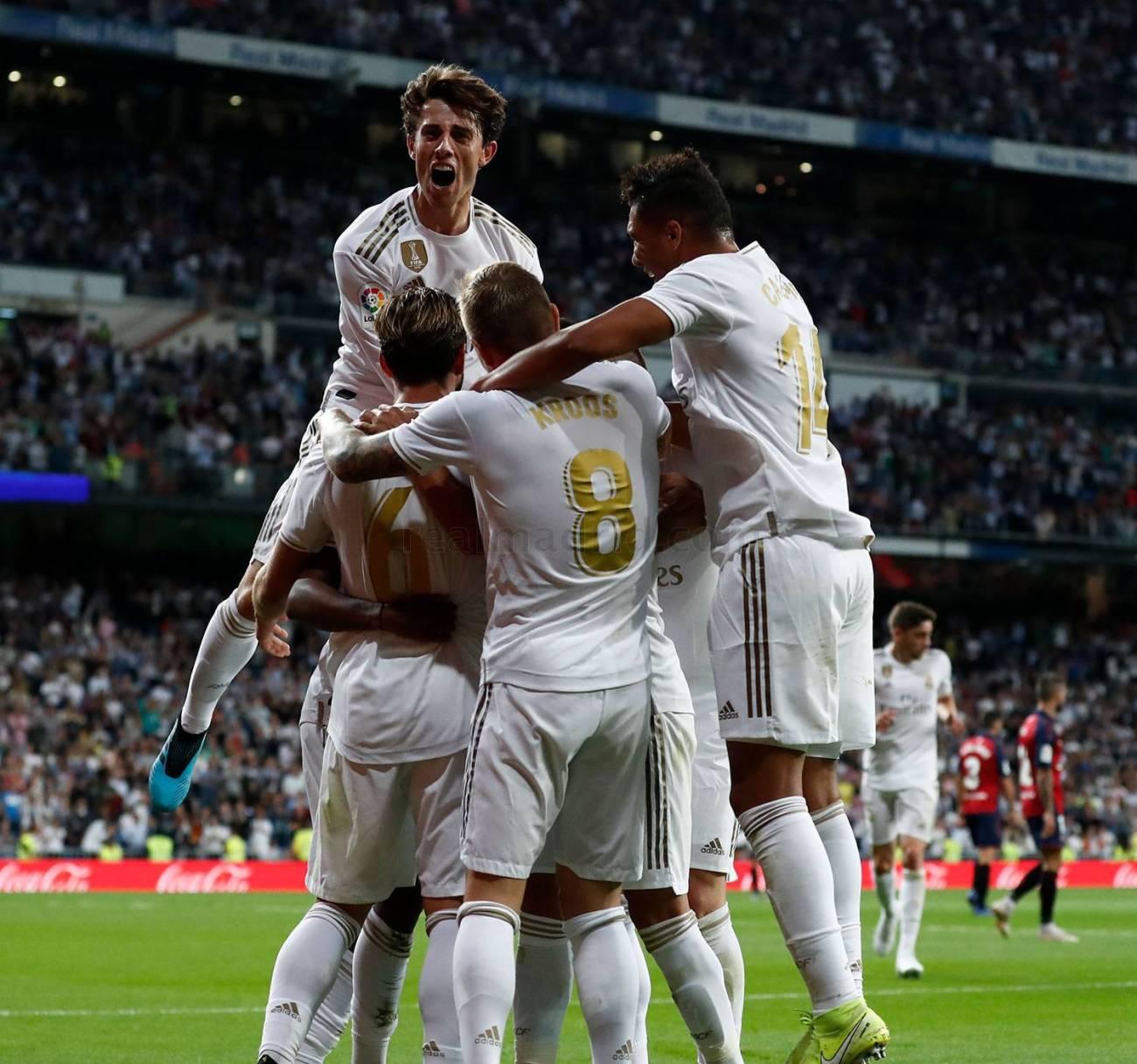 celebración segundo gol